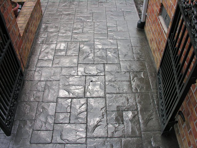 Stamped Ashlar Gray Richmond Va Give It Time Stamped
