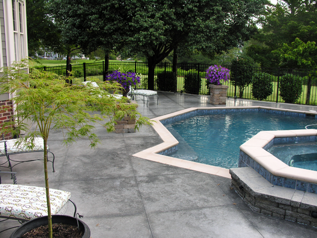 Concrete pool deck ideas image search results for Pool design richmond va