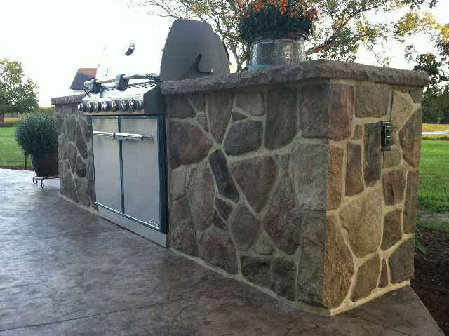 Stamped Concrete Kitchens : Stamped concrete outdoor kitchens