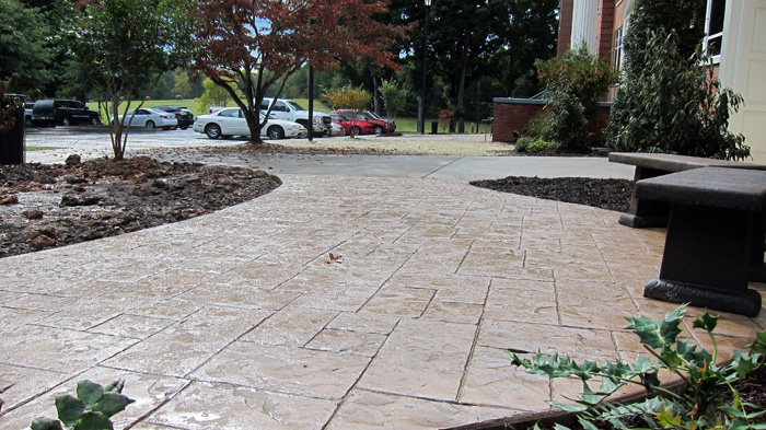 Stamped Concrete Memorial