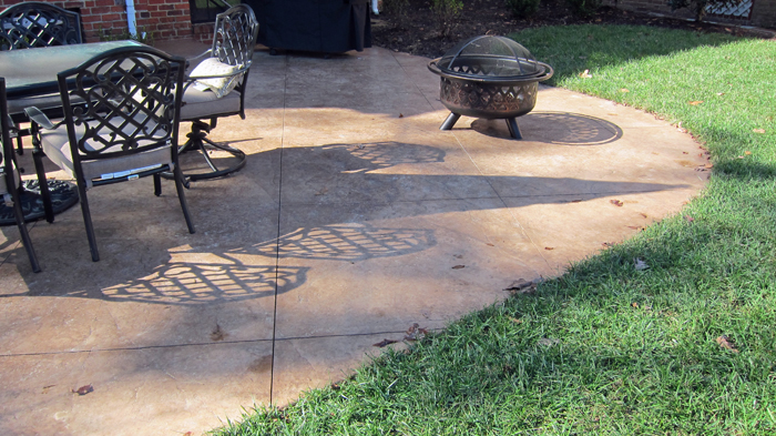 Stamped Patio and Fire Pit