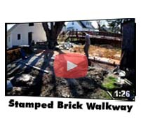 Red Brick Stamped Walkway