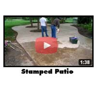 Decorative Stamped Concrete Patio