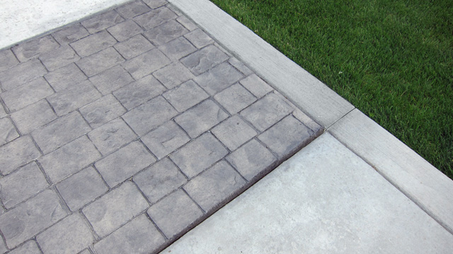 Stamped Concrete -Cobble an Salt Texture
